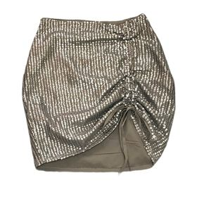 NWT! ASOS Olive Green Sequin Size 0 Mini Skirt